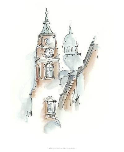 European Watercolor Sketches I-Ethan Harper-Premium Giclee Print
