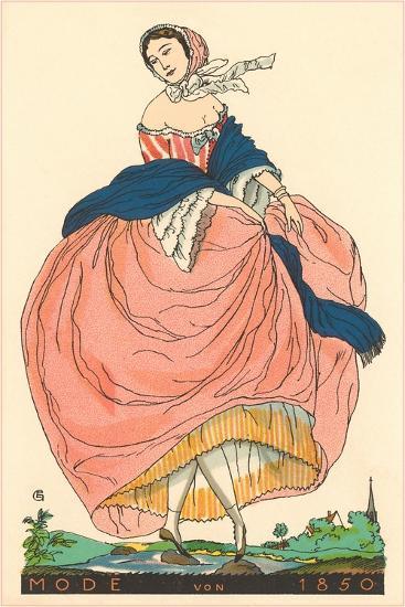 European Women's Fashion, 1850-Found Image Press-Giclee Print