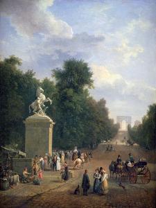 The Entrance to the Champs-Élysées, C1804-1836 by Eustache Francois Duval