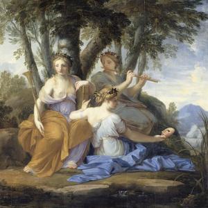 Clio, Euterpe et Thalie by Eustache Le Sueur