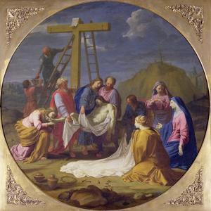 Descent from the Cross, C.1651 by Eustache Le Sueur