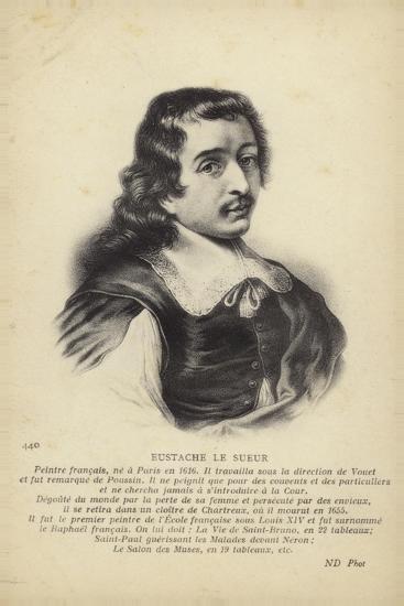 Eustache Le Sueur, French Painter--Giclee Print