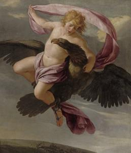 Ganymède enlevé par Jupiter by Eustache Le Sueur