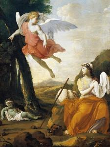 Hagar and Ishmael Saved by an Angel by Eustache Le Sueur