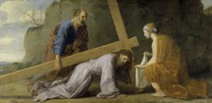 Jesus Carrying His Cross by Eustache Le Sueur