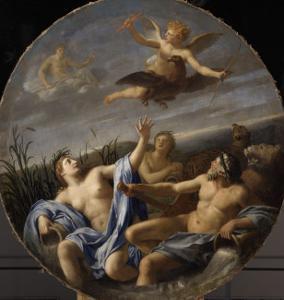 L'Amour dérobe la foudre à Jupiter by Eustache Le Sueur