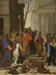 La Prédication de saint Paul à Ephèse by Eustache Le Sueur