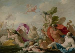 Marine Gods Paying Homage to Love, c.1636-8 by Eustache Le Sueur