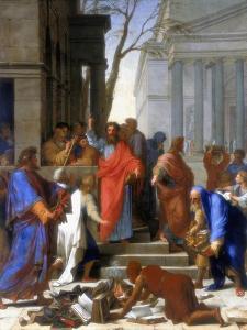 Saint Paul Preaching at Ephesus, 1649 by Eustache Le Sueur