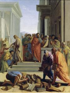 Saint Paul Preaching in Ephesus by Eustache Le Sueur