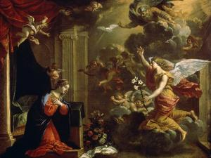The Annunciation, 17th Century by Eustache Le Sueur