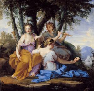 The Muses, Clio, Euterpe and Thalia, circa 1652-55 by Eustache Le Sueur