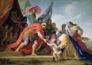 Volumnie and Véturie in Front of Coriolan, C1638-1639 by Eustache Le Sueur