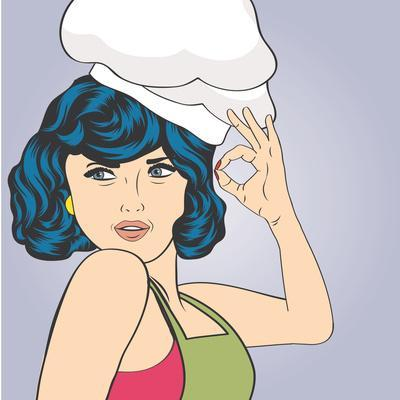 Pop Art Woman Cook