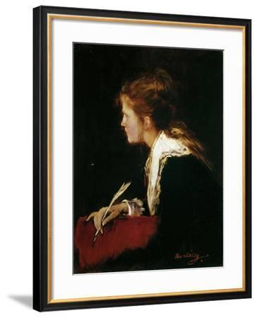 Eva. Studie Zu Milton, 1877-Mihaly Munkacsy-Framed Giclee Print