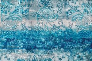 Blue Abstract Elegance II by Eva Watts