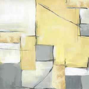 Golden Abstract II by Eva Watts