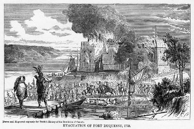 Evacuation of Fort Duquesne, 1758--Giclee Print