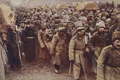 Evacuation of Russian Prisoners, World War I, 1914-1915--Photographic Print