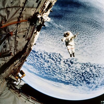 Evaluation of SAFER EVA Backpack, STS-64--Photographic Print