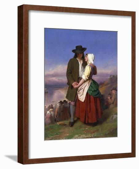 Evangeline and Gabriel-John Faed-Framed Giclee Print