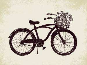 Flower Basket Bike by Evangeline Taylor