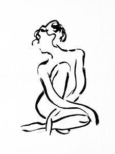 Gestural Figure Study Front by Evangeline Taylor