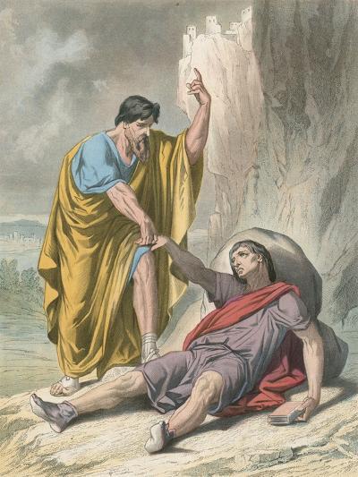 Evangelist Raises Up Christain-H. Castelli-Giclee Print