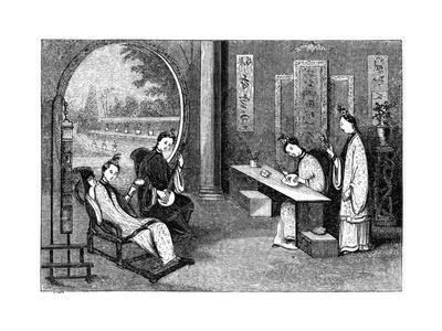 Domestic Scene, Ladies at their Usual Employments, 1847