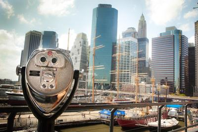 Coin Operated Binoculars at South Street Seaport by EvanTravels