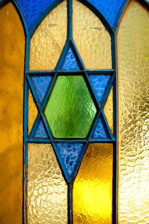 Stained Glass Star of David by EvanTravels