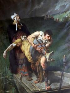 Carrying the Dead, C1842-1896 by Evariste Vital Luminais