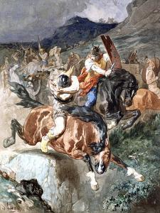 Fight of the Riders, C1842-1896 by Evariste Vital Luminais