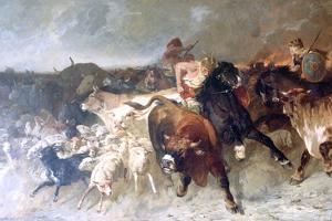 Plunderers, 1867 by Evariste Vital Luminais