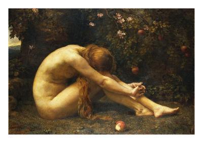 Eve in the Garden of Eden-Anna Lea Merritt-Giclee Print