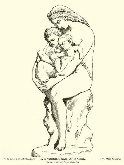 Eve Nursing Cain and Abel, by the Watcomb Terra Cotta Company--Giclee Print