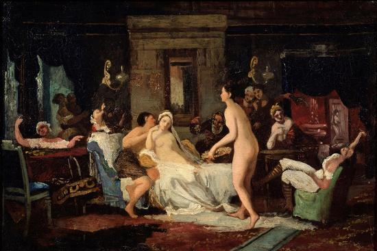 Eve-Of-The-Wedding Party in a Bath, 1885-Firs Sergeevich Zhuravlev-Giclee Print