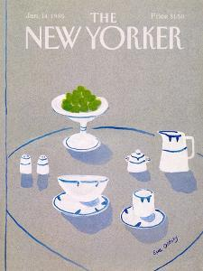 The New Yorker Cover - January 14, 1985 by Eve Olitsky