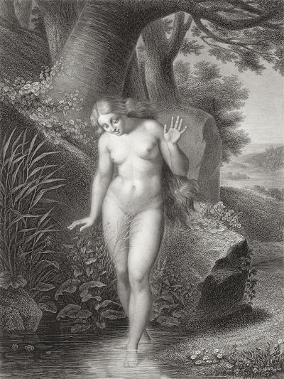 Eve's Reflection in the Water, from a French Edition of 'Paradise Lost' by John Milton-Jules Richomme-Giclee Print