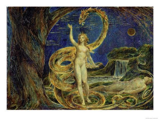 Eve Tempted by the Serpent-William Blake-Giclee Print