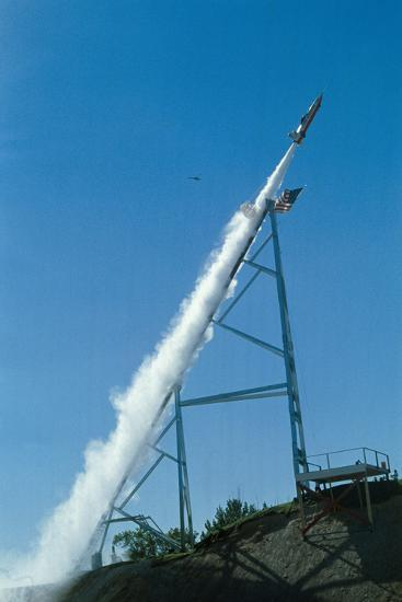 Evel Knievel's Rocket Launching--Photographic Print
