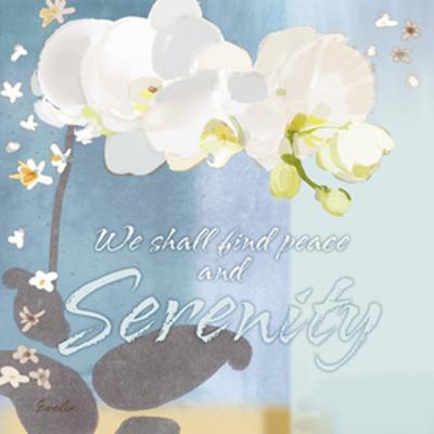 Blue Floral Inspiration I by Evelia Designs