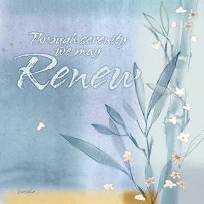 Blue Floral Inspiration VII by Evelia Designs