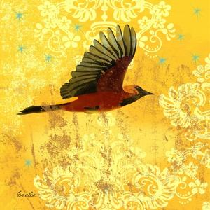Oriole and Cartouche III by Evelia Designs