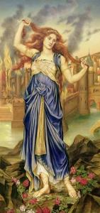 Cassandra, 1898 by Evelyn De Morgan