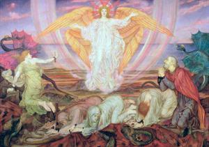 Death of the Dragon, 1914 by Evelyn De Morgan