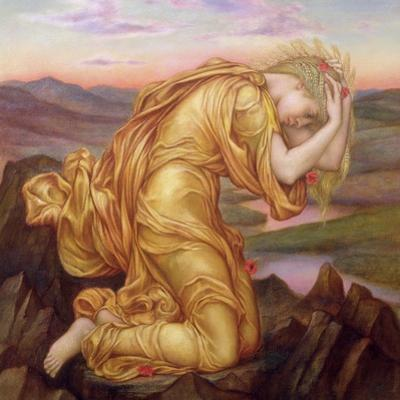 Demeter Mourning for Persephone, 1906 by Evelyn De Morgan