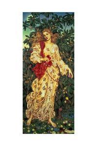 Flora, 1894 by Evelyn De Morgan