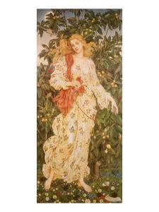 Flora, the Goddess of Blossoms, 1880 by Evelyn De Morgan