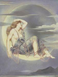 Luna, 1885 by Evelyn De Morgan
